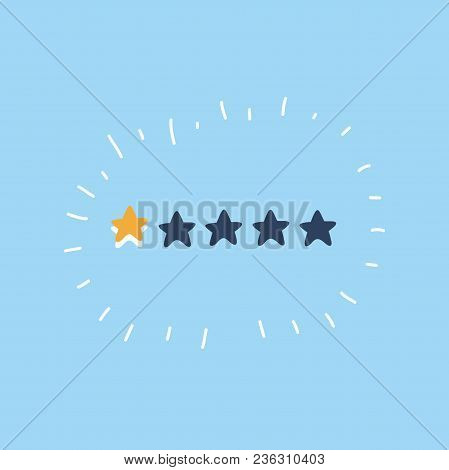 Vector Cartoon Illustration Of Leaving Phone Stars From Five Rating. Hand Drawn  Stars.