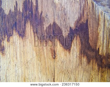Wooden Background With Cracks. Textured Board With Cracks
