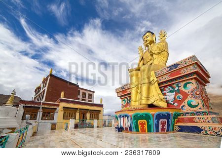 The Statue of Maitreya at Likir Gompa (Monastery) in Ladakh, India