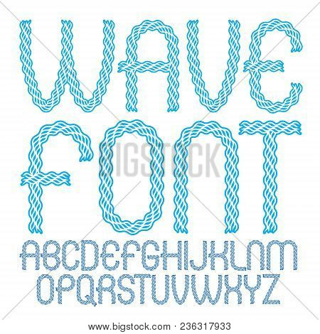 Vector Capital Rounded Alphabet Letters Collection Made Using Undulate Lines, Flowing Rhythm.