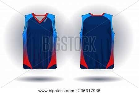 Vector Of Basketball Jersey, Tank Top Sport Illustration.