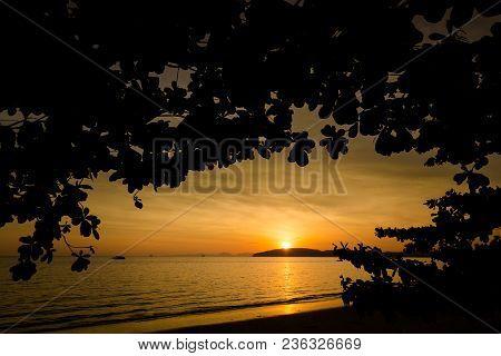 Tropical Sunset In Ao Nang