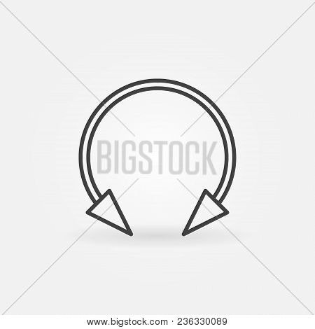 Spike Circular Barbell Earring Linear Icon. Vector Piercing Jewelry Concept Outline Symbol Or Design