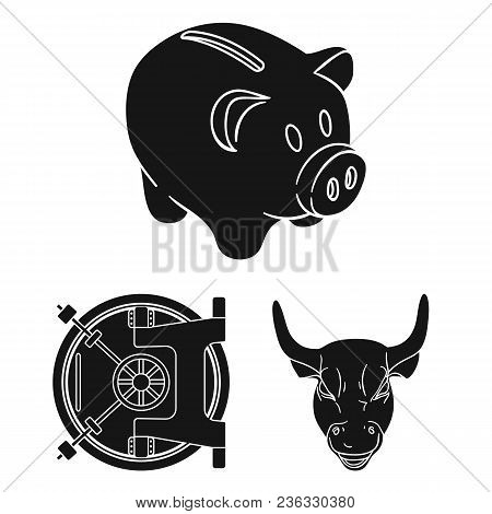 Money And Finance Black Icons In Set Collection For Design. Business And Success Vector Symbol Stock