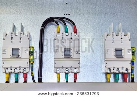 There Are Three Power Circuit Breakers On The Mounting Panel. In The Electrical Cabinet Electrical E