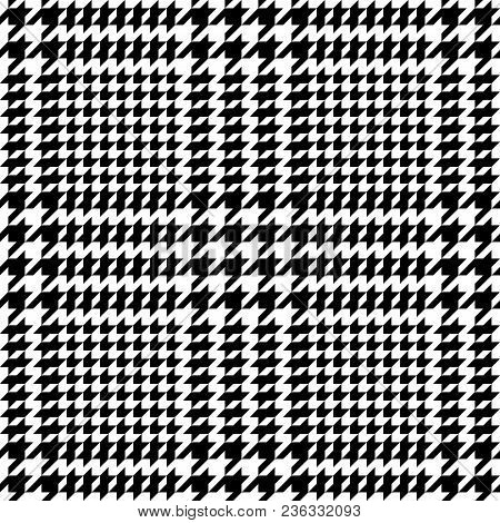 Check Fashion Tweed White And Black Seamless Pattern For Fashion Textile Prints, Wallpaper, Wrapping