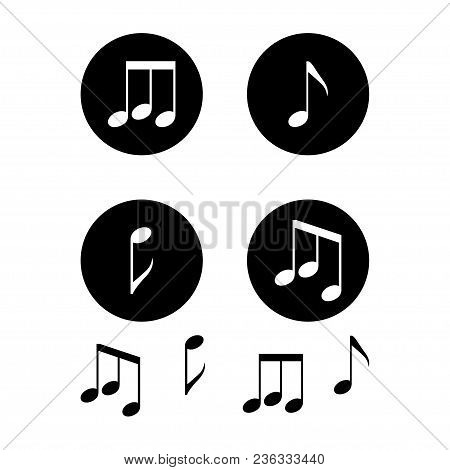 Treble Clef. Music Notes On White Background. Vector Illustration