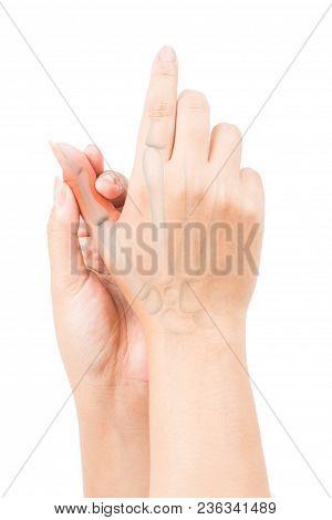 Finger Bone Pain White Background Finger Injury