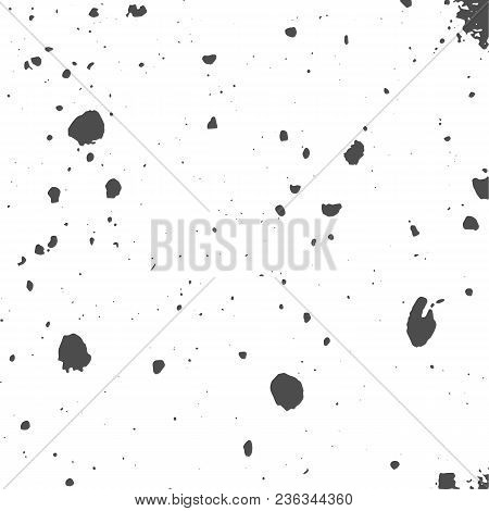 Grunge Black And White Distress Texture. Wall Background. Vector Illustration. Simply Place Illustra