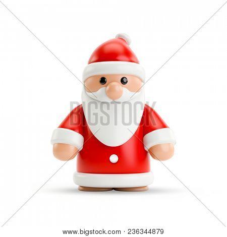 3d illustration of a sweet little Santa Clause figure