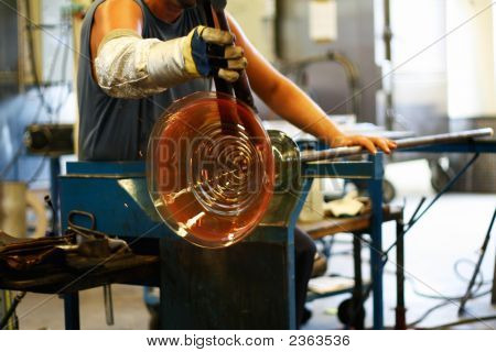 Glass Blowing - Shaping A Vase