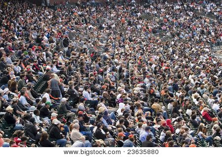 Base Ball Stadium Crowd