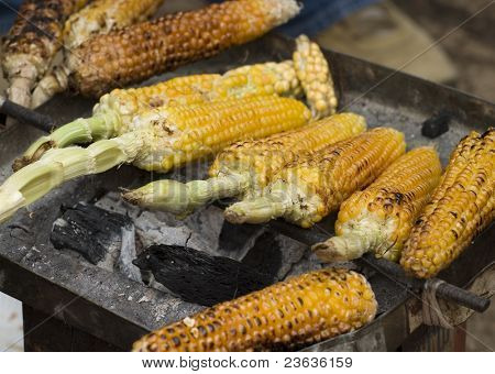 Corn in a Market in Chiapas Mexico