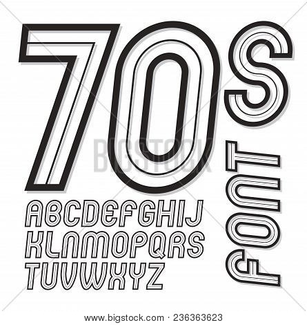 Vector Vintage Creative Script, Cool Alphabet Letters Set, Can Be Used In Poster Art Creation