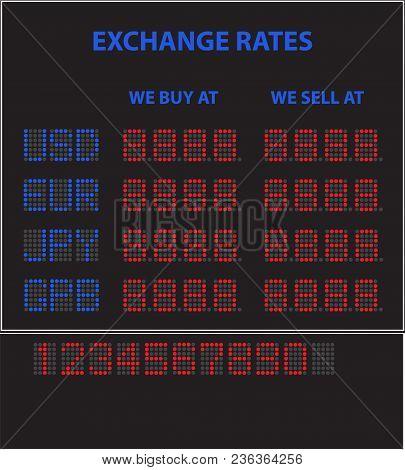 Electronic Led Currency Exchange Display
