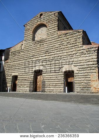 The Ancient Facade Of The Church Of Saint Lawrence In Florence - Tuscany - Italy,