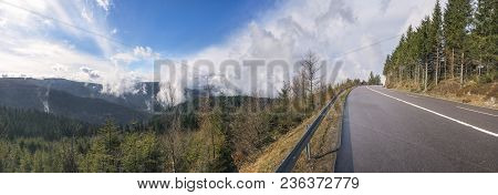 Amazing Landscape With The Schwarzwaldhochstraße Street, Crossing The Northern Black Forest Mountain