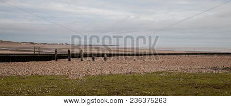 Seascape Photo Of A Empty Beach On A Winters Day
