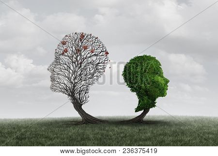 Parent Loss Or The Death Of A Father Or Mother As A Child And Adult Shaped As A Tree As A Psychology