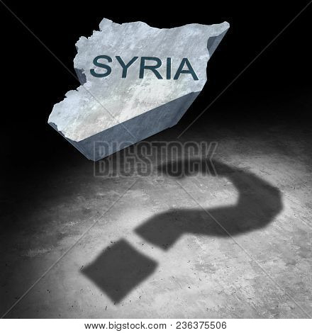 Syria Conflict Questions About The Middle East Security Crisis As A Country Icon Casting A Shadow Of