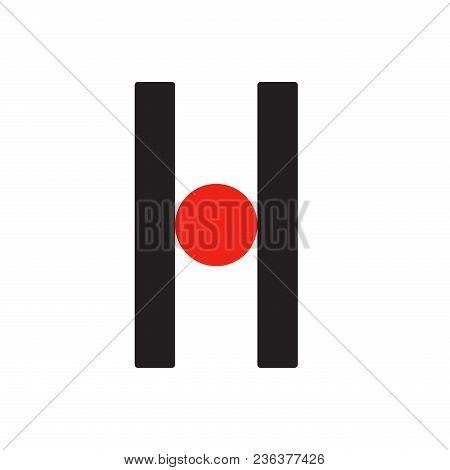 H H Logo Logotype - English Font Upper Case Letter - Latin Modern Bold Font Alphabet, Upper Case Let