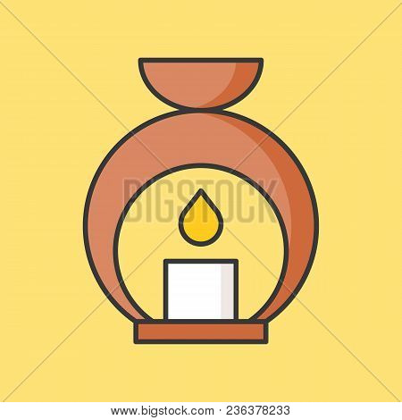 Aroma Lamp, Aroma Lantern, Filled Outline Icon