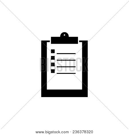 Clip Board Work Black Icon On The White Background