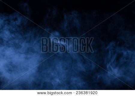 Smoke Vape Vapor Texture For Designers Works - Abstract Photo Texture Of The Real Smoke On The Black