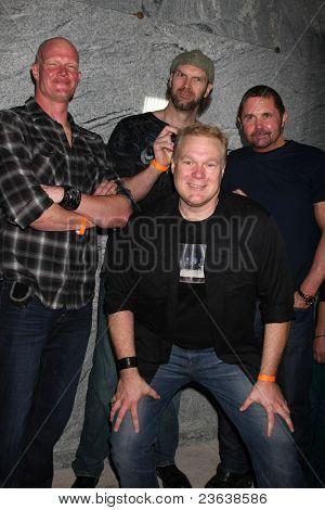 LOS ANGELES - SEP 15:  Derek Mears, Tyler Mane, Kane Hodder, Tim Sullivan (In Front) arrives at the