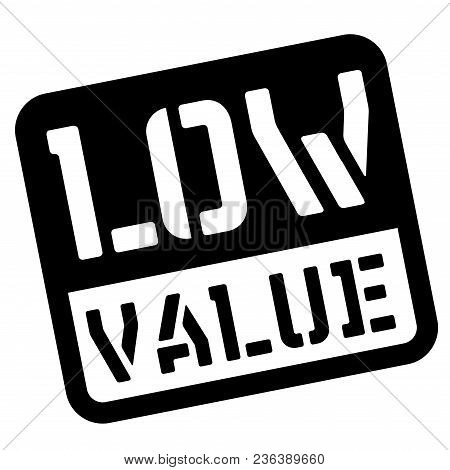Low Value Stencil Stamp. Rectangular Bold Sign, Label