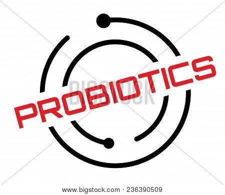 Probiotics Typographic Label, Sign. Clean Modern Series