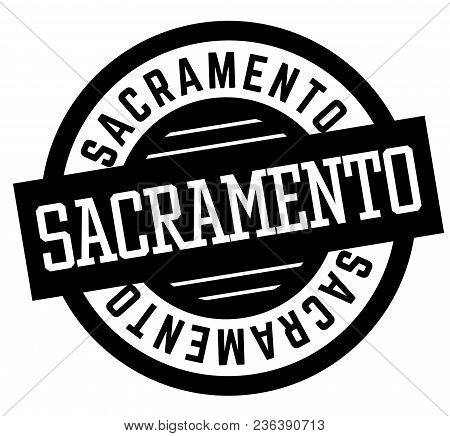 Sacramento Black And White Badge. City And Country Series.