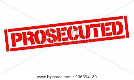 Prosecuted Typographic Stamp, Sign, Label. Black And Red Series