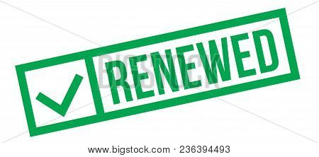 Renewed Typographic Stamp, Sign, Label Green Check Series