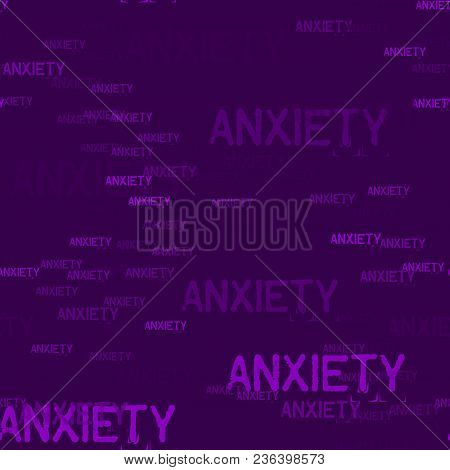 Anxiety Typography Pattern. Typography Only Series. Minimal Graphics