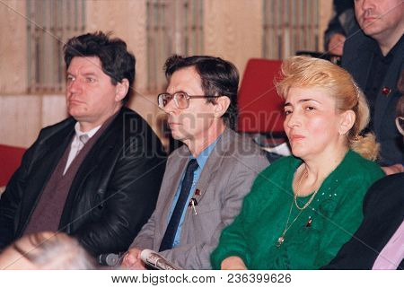 Moscow, Russia - February 22, 1992: Constituent Congress Of All-russian Patriotic Movement