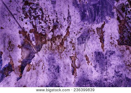 Ultra Purple Tin Texture, Steel Wall Surface Or Metallic Aluminium Background.