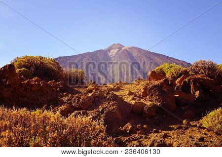 View Of Volcano El Teide Is The Highest Point Above Sea Level In The Islands Of The Atlantic.pico De