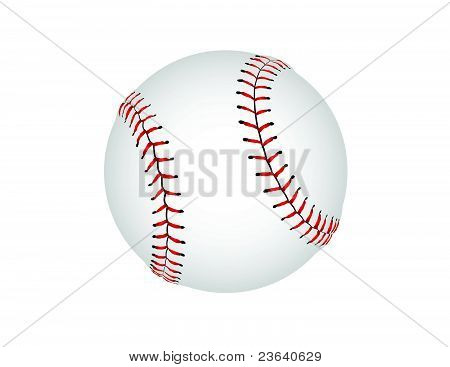 Illustrated Baseball Graphic - High Resolution Vector Illustration poster