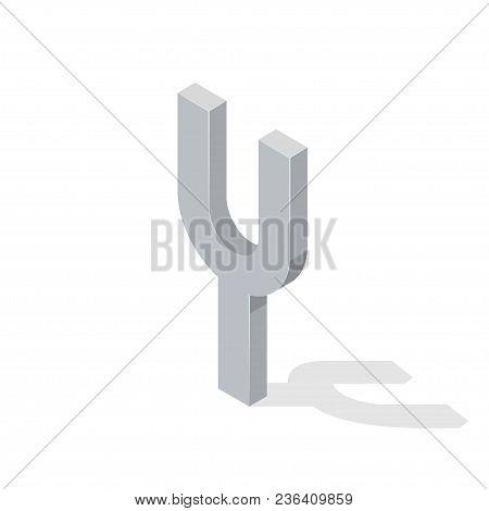 Camerton Isolated On White Background. Isometric Vector Illustration.