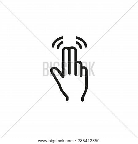 Double Tap With Two Fingers Line Icon. Touchpad, Screen, Hand. Gesturing Concept. Can Be Used For To