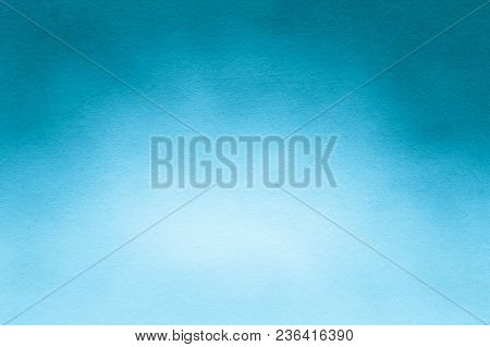 Watercolor Paper Texture Or Background For Artwork With Gently Gradient In Blue And White Colors.