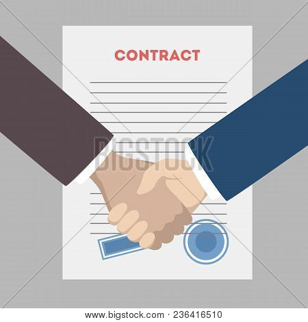 Business People Shaking Hands After Contract Signing.