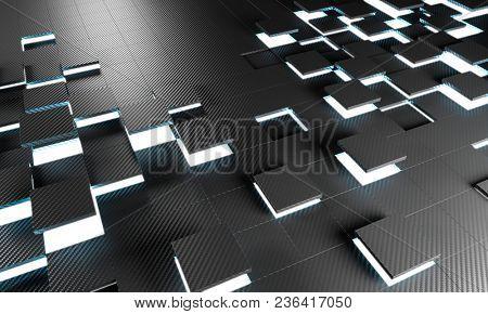 detail of 3d rendering carbon fiber background