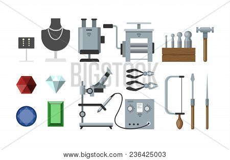 Jewelry Instruments Set For Making Acessories And Stuff.