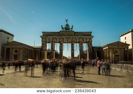 A Second Photo Of The Brandenburger Tor In Berlin At Long Time Exposure