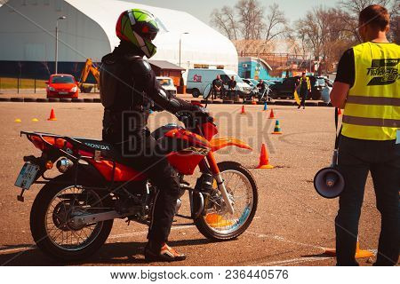Competitions On Motorcycles In Kiev In X Park 04.15.2018