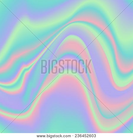 Abstract Background With Vibrant Gradient Holographic Texture. Design Template For Covers, Placards,