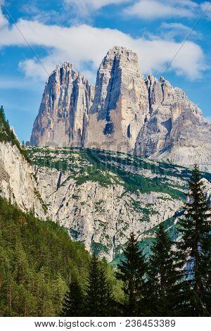 Monte Piana peak. Dolomite mountains near Cortina d'Ampezzo