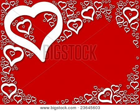 Background love hearts